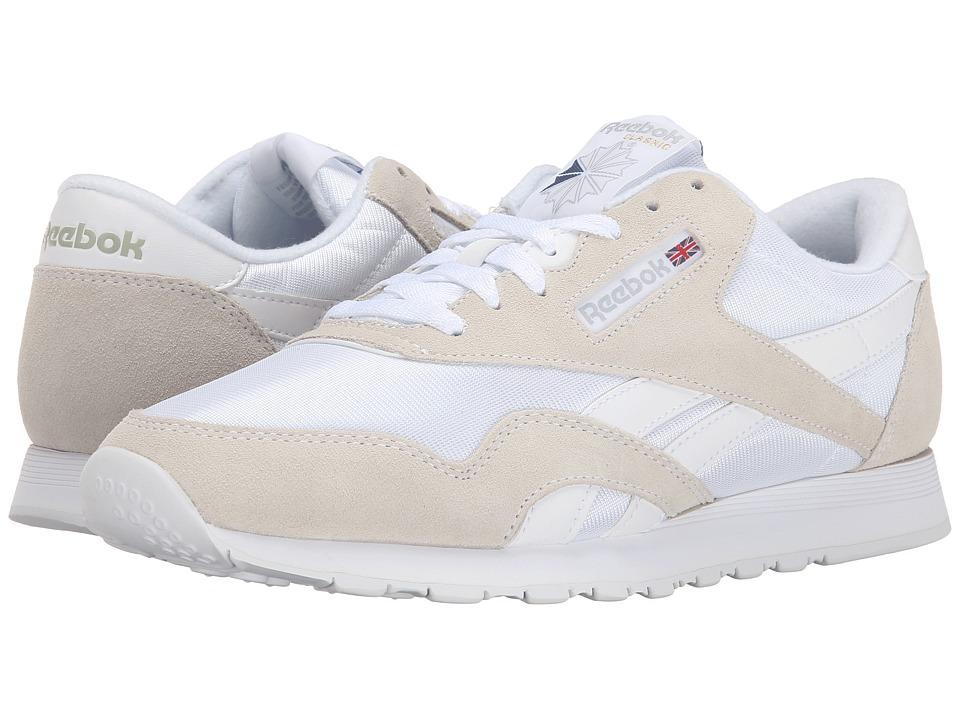 Reebok Lifestyle - Classic Nylon (White/Light Grey) Men