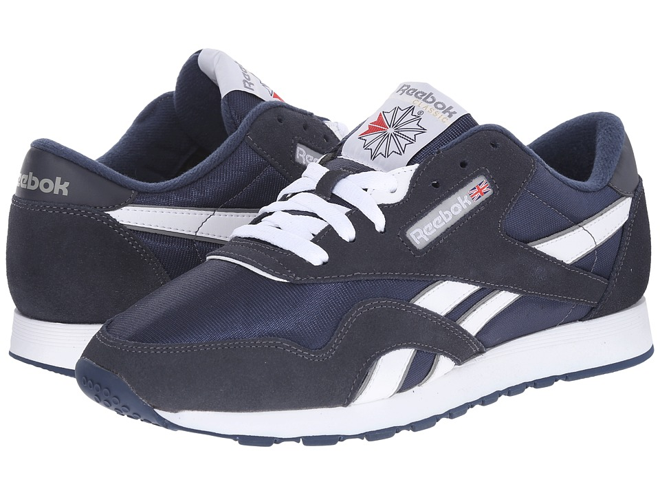 Reebok Lifestyle - Classic Nylon (Team Navy/Platinum) Men...