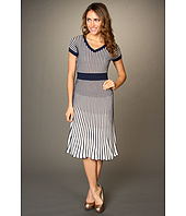 BCBGMAXAZRIA - Biella V-Neck Pleated Dress