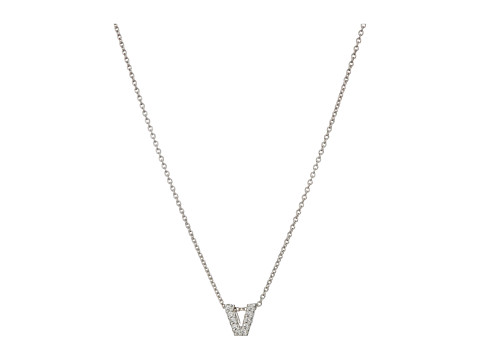 Roberto Coin Roberto Coin Diamond Initial Necklace - White Gold-V
