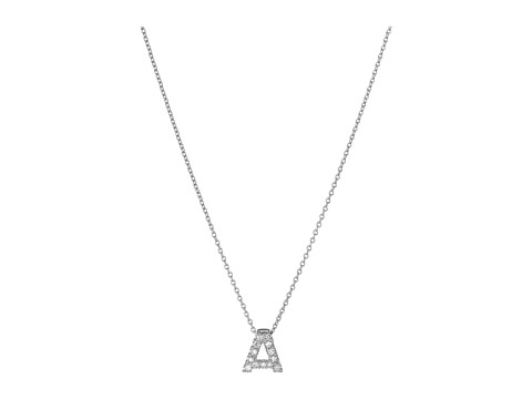 Roberto Coin Roberto Coin Diamond Initial Necklace - White Gold-A