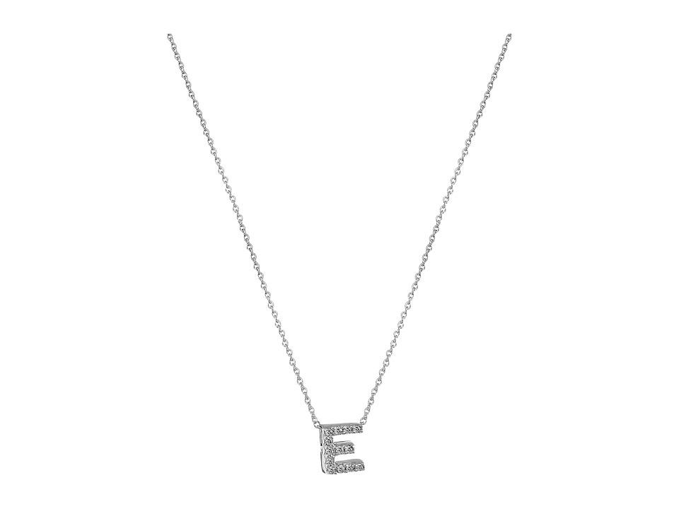 Roberto Coin - Roberto Coin Diamond Initial Necklace (White Gold-E) Necklace