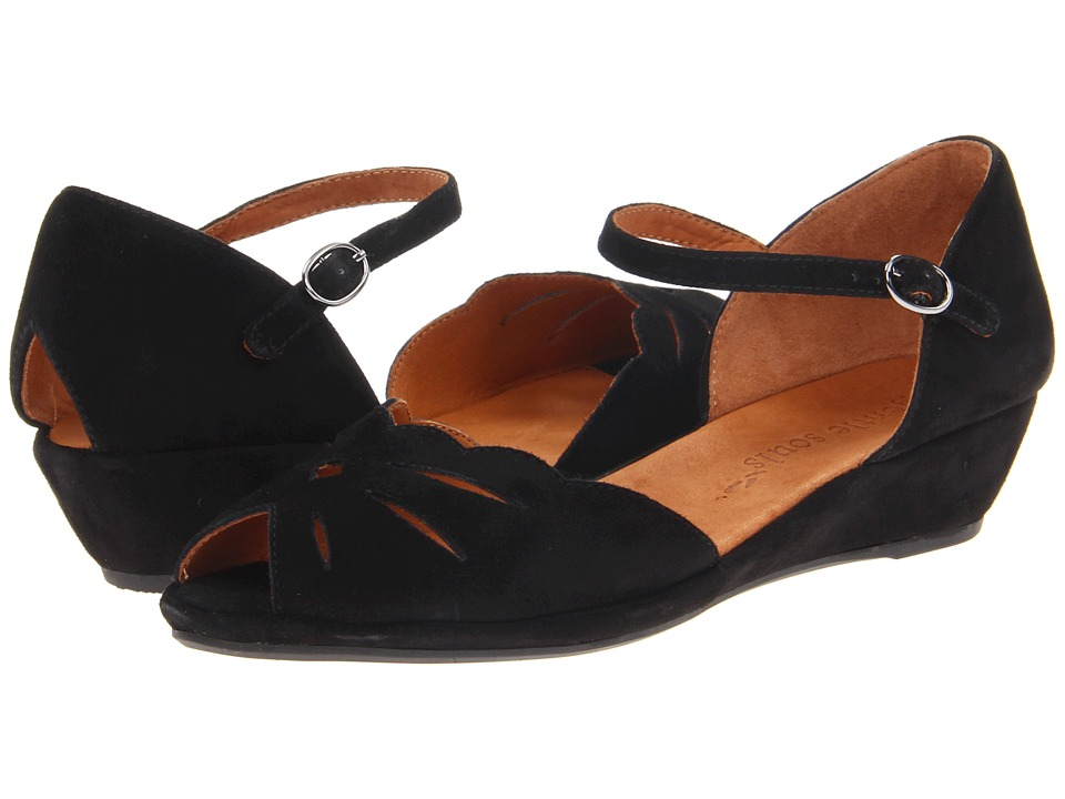 Gentle Souls - Lily Moon (Black) Womens Wedge Shoes
