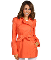 Vince Camuto - Hooded Asymmetrical Zip Trench