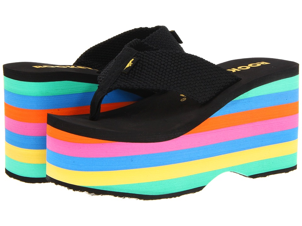 Rocket Dog Bigtop Black Webbing/Stripe Womens Sandals