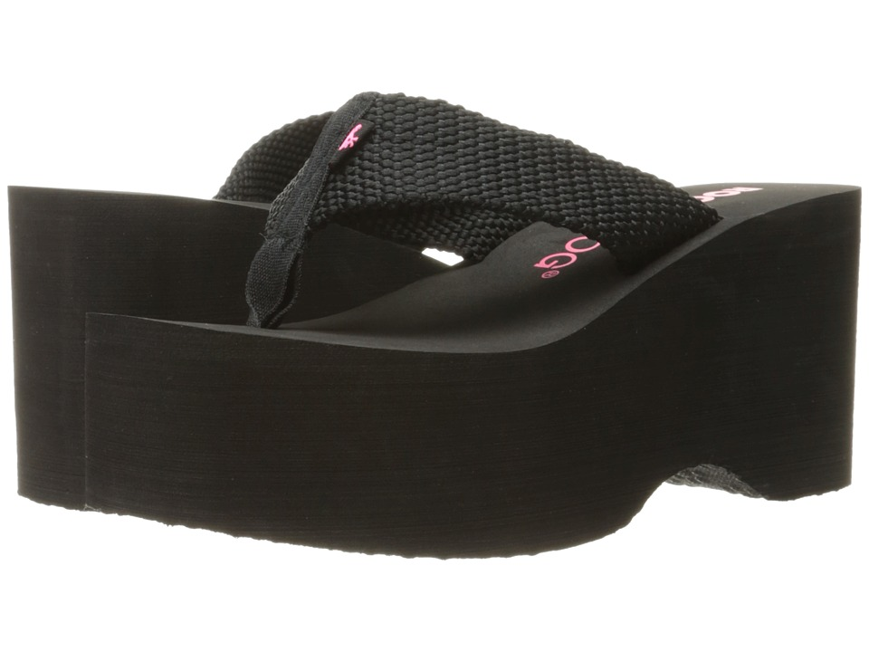 Rocket Dog Bigtop Black Webbing Womens Sandals