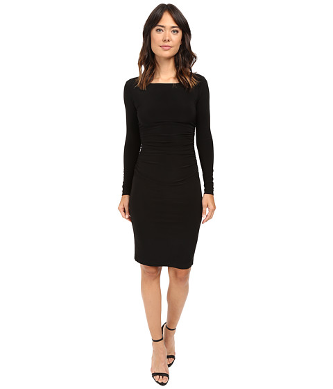 KAMALIKULTURE - L/S Shirred Waist Dress (Black) - Apparel