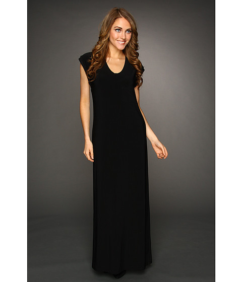 KAMALIKULTURE - Cap Sleeve Maxi Gown (Black) - Apparel
