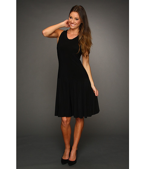 KAMALIKULTURE - Racer Flare Dress To Knee (Black) - Apparel