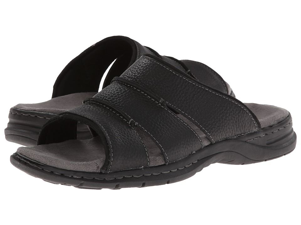 Dr. Scholls Gordon Black Mens Slide Shoes