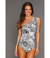 DKNY - Animalia One Shoulder Maillot