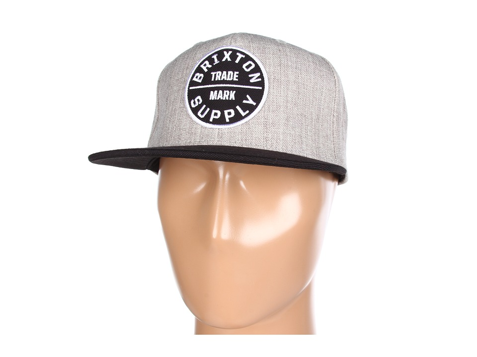 Brixton - Oath III (Heather Grey/Black) Traditional Hats