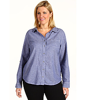 DKNY Jeans - Plus Size Chambray Top