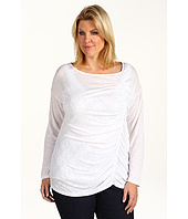 DKNY Jeans - Plus Size Asymmetrical Shirred Top