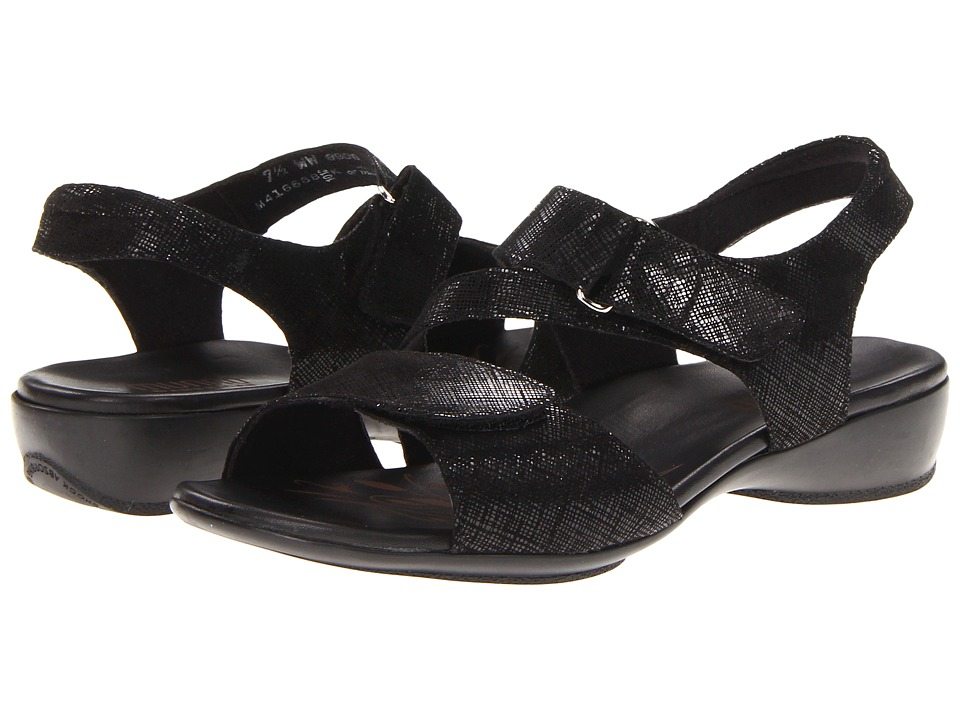 Munro American Brenna (Black Print) Women's Sandals, wide width womens sandals, wide fitting sandal, comfort, footwear, shoes, WW