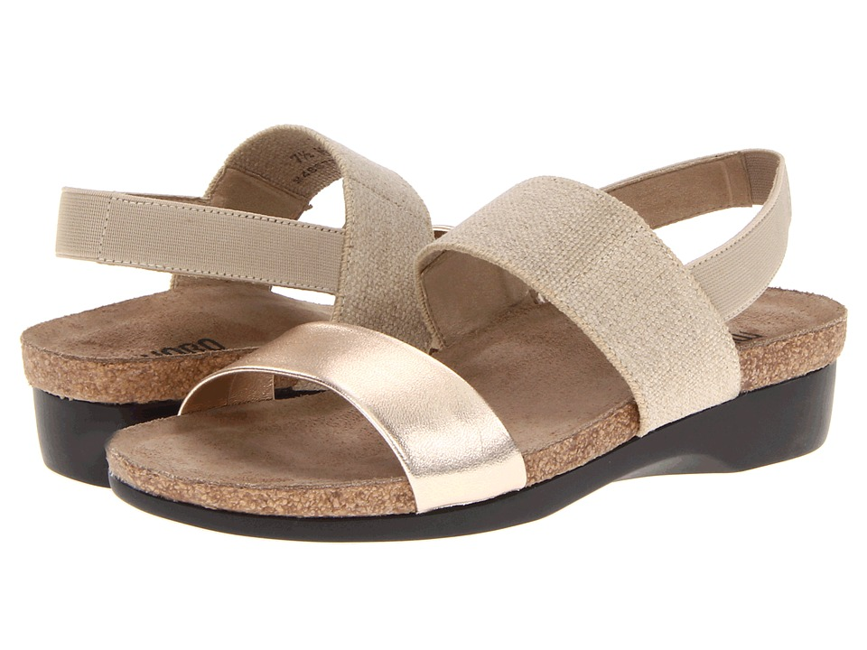 Munro American Pisces Natural Fabric/Platinum Kid Womens Sandals