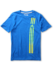 adidas Kids - 3 Stripe Blend Tee (Little Kids/Big Kids)
