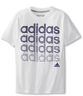 adidas Kids - Vertical Stripes S/S Tee (Little Kids/Big Kids)