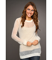Kenneth Cole New York - Long Sleeve Ballet Neck Open Stitch Sweater
