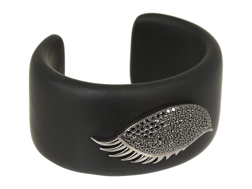 Stephen Webster Envy Shut Eye Resin Cuff Black Bracelet