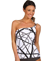 MICHAEL Michael Kors - Harness Print One Shoulder Tankini