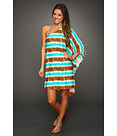 MICHAEL Michael Kors - Tribal Stripe One Shoulder Cover Up
