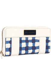 Marc by Marc Jacobs - Marc'd and Check'd PVC Printed Slim Zippy