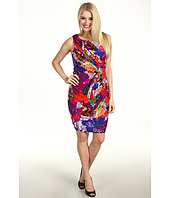 Suzi Chin for Maggy Boutique - Sleeveless High Neck Dress w/Waist Detail