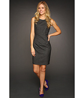 Calvin Klein - Sheath w/Faux Leather Detail Dress