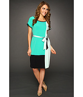 Calvin Klein - Color Block Self Belt Dress