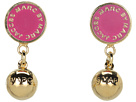 Marc by Marc Jacobs - Classic Marc Drop Earrings (Fuchsia (Oro)) - Jewelry