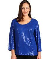 Calvin Klein - Plus Size Bias Sequin Top