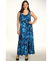 Calvin Klein - Plus Size S/L Print Maxi Dress