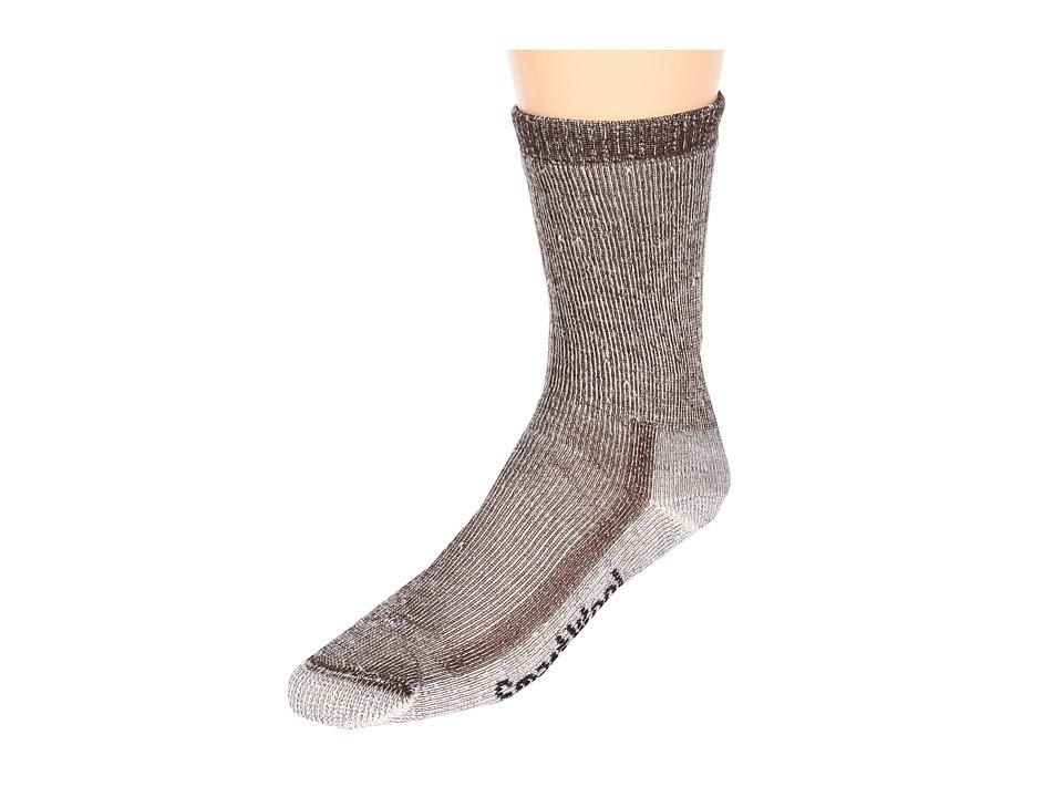 Smartwool - Hiking Medium Crew (Dark Brown) Mens Crew Cut Socks Shoes