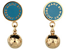 Marc by Marc Jacobs - Classic Marc Drop Earrings (Deep Teal (Oro)) - Jewelry