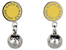 Marc by Marc Jacobs - Classic Marc Drop Earrings (Safety Yellow (Argento)) - Jewelry