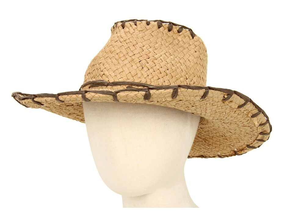 San Diego Hat Company Kids - Paper Cowboy Hat (Little Kids) (Natural) Cowboy Hats