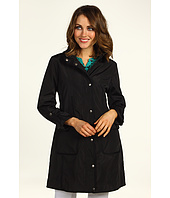 DKNY - Hooded Raincoat w/ Grograin Trim