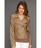 DKNY - Asymmetrical Pleather Jacket