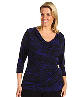 Calvin Klein - Plus Size Three Quarter Sleeve w/ Hardware