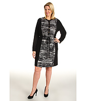 Calvin Klein - Plus Size Color Block Shirt Dress