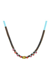 Rebecca Minkoff - Rubber & Cord Crystal Necklace