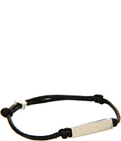gorjana - Stillwell Bracelet (Black) (Smooth Squared Tubular) (Oxidized Silver)