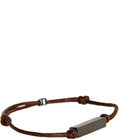 gorjana - Stillwell Bracelet (Brown) (Smooth Squared Tubular) (Gunmetal)
