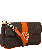 MICHAEL Michael Kors - Fulton Small Shoulder Flap PVC Logo