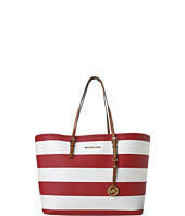 MICHAEL Michael Kors - Jet Set Travel Medium Travel Tote - Striped Saffiano