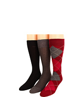 Cole Haan - Casual Argyle/Nail Head/10x1 Rib Knit - 3 Pack