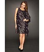 Nicole Miller - Sequin Stripe One Shoulder Dress