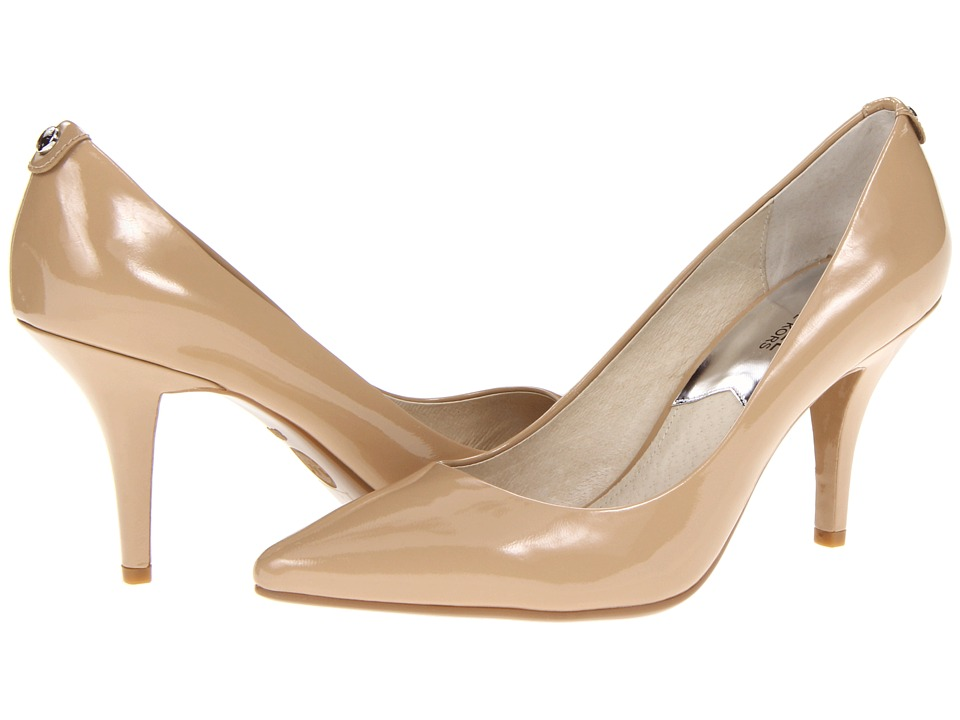 MICHAEL Michael Kors MK Flex Mid Pump (Nude Patent) High Heel Shoes