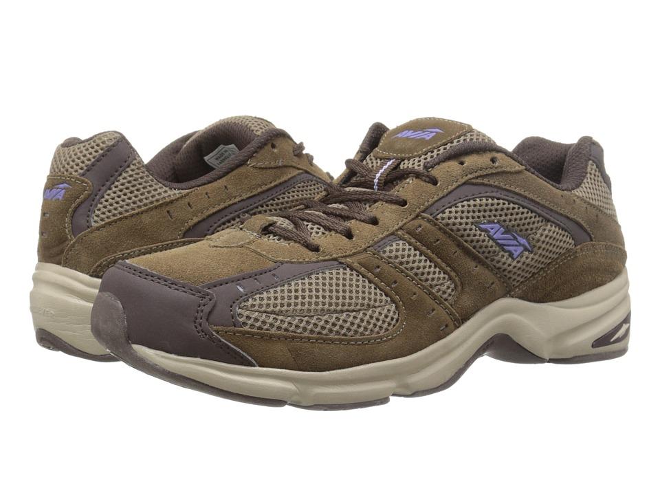 Avia Avi Volante Country Shitake Brown/Espresso/Violet Blaze/Stone Taupe Womens Walking Shoes